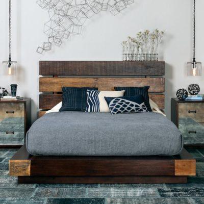 Кровати и прикроватные тумбы в стиле LOFT